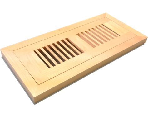 Maple Floor Vents, Registers, Flush Mount Wood Floor Vent.