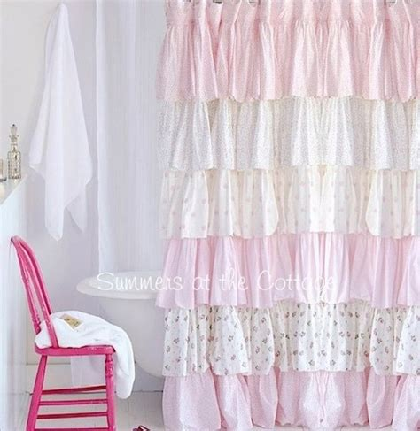 Pink Ruffle Blackout Curtains by 17 Best Ideas About Colorful Shower Curtain On