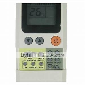 Replacement For Union Aire Air Conditioner Remote Control