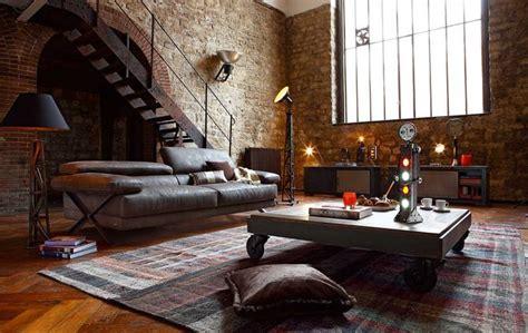 10 Ways To Get A Vintage Industrial Living Room Design