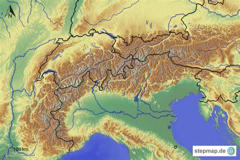 karte der alpen creactie
