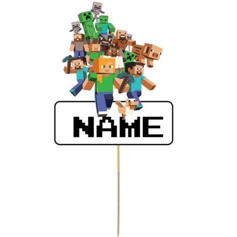 minecraft card cake topper viparty