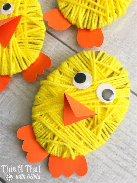 chick yarn craft  easter