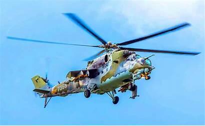 Gunship Russian Soviet Helicopter Mi холсте фото