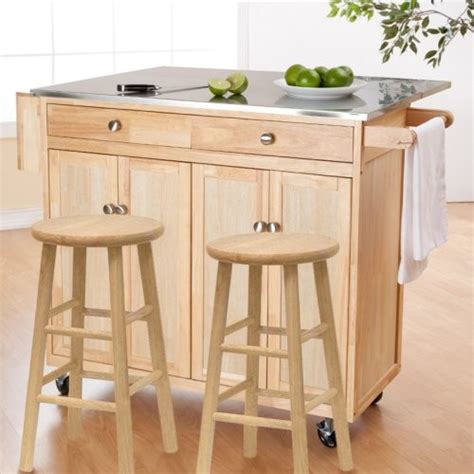 kitchen cart and islands the portable kitchen island with optional stools