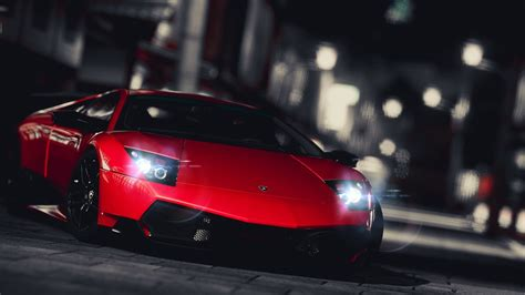 Red Lamborghini Gallardo Super Pic On Night
