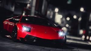 Red Lamborghini Gallardo Super Pic on Night - Download Hd ...
