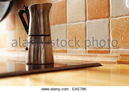 Coffee station kitchen home coffee stations coffee cafe coffee drinks coffee gifts drip coffee coffee barista coffee shops cup of coffee. Old fashioned coffee percolator Stock Photo, Royalty Free Image: 310438257 - Alamy