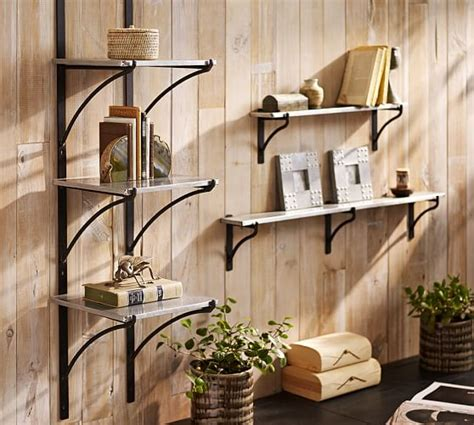 pottery barn shelf metal bracket ledges shelves pottery barn