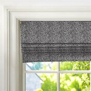 mini dot cordless roman shade with blackout lining pbteen With cordless roman shade pattern