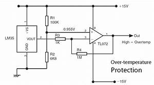basic lm35 temperature sensor circuit circuit wiring With temperature sensor led meter circuit diagram