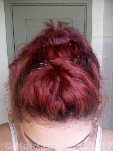 Dying Orangeginger Over Faded Purplepink Unbleached Hair
