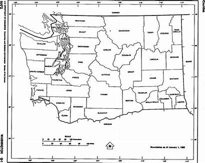 Washington Outline Map Maps State Clipart County