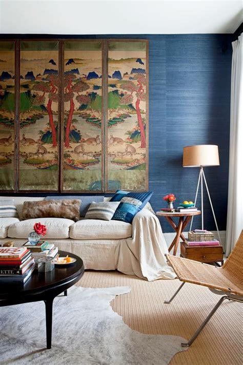 beautiful rooms  grasscloth wallpaper