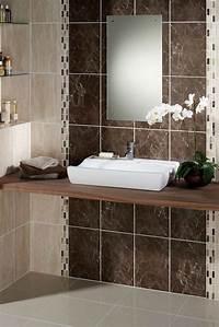ceramic bathroom tile Brown Ceramic Tile | Feel The Home