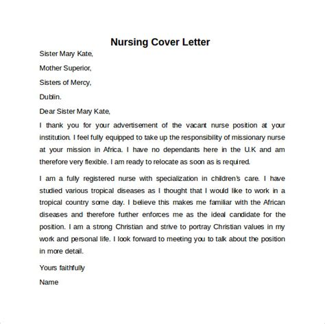 11808 cover letter exles nursing 10 sle nursing cover letter exles to