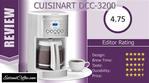 Using our cutting edge coffee technology, the 14 cup programmable coffeemaker can give you hotter coffee without sacrificing taste. Review: Cuisinart DCC-3200 PerfecTemp Coffee Maker Pros, Cons and Verdict - Extend Coffee