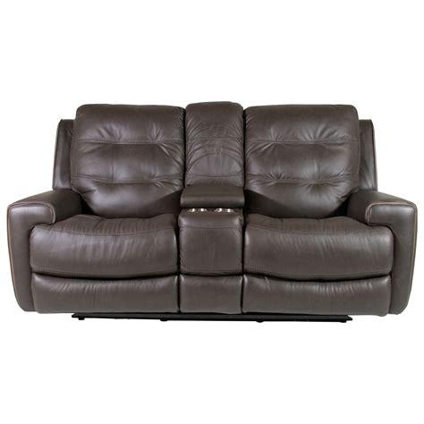 flexsteel wicklow power reclining loveseat  console