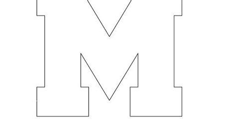 block letter m free printable block letter stencils stencil letters m 29509