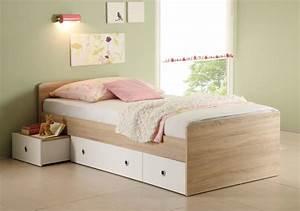 Massivholz Bett Weiß 90x200 : tina jugendbett 90x200 cm sonoma eiche wei ~ Bigdaddyawards.com Haus und Dekorationen