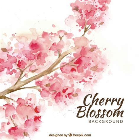 foto de Fundo de flor de cerejeira em estilo aquarela Baixar