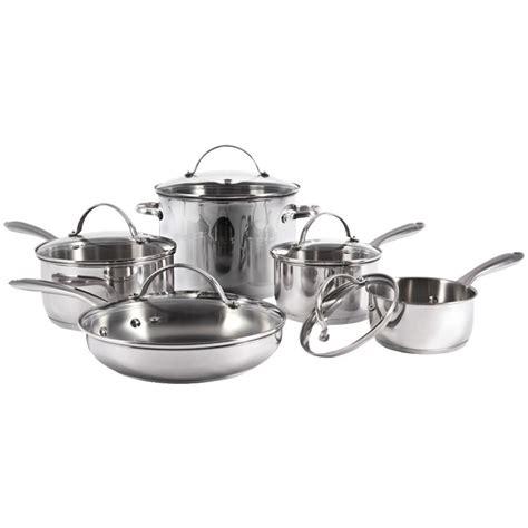 cookware stainless pans pots steel piece lifetime warranty sets starfrit kitchen pot bottle unit