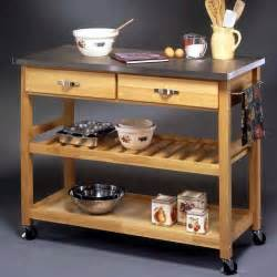 rolling island for kitchen stainless steel top kitchen cart storage island rolling butcher block