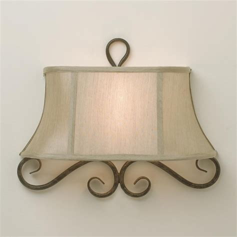 half shade iron scroll sconce l shades by shades of