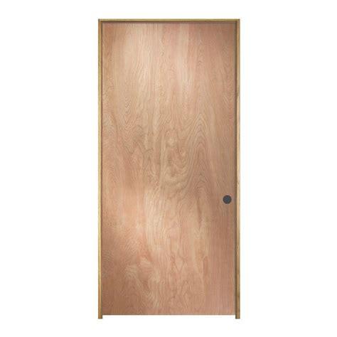 home depot jeld wen interior doors jeld wen 28 in x 80 in birch unfinished left flush