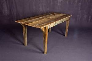 custom reclaimed barn wood dining table by heirloom llc With dining tables made from reclaimed wood