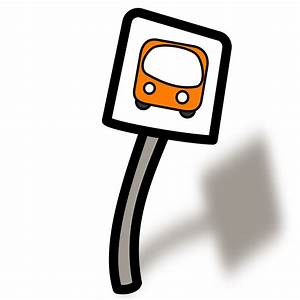 Clipart - Funny Bus stop
