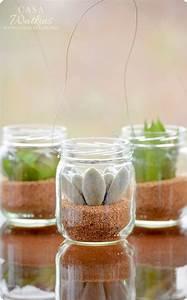 mini succulent hanging planters baby food jar crafts