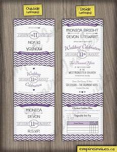 custom chevron trifold wedding invitations canada empire With tri fold wedding invitations canada