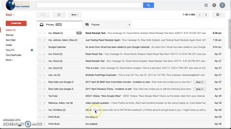 read receipts gmail youtube
