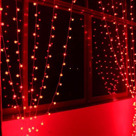 led lights for home decoration 6 1m 256 bulbs red lantern led curtain string lights