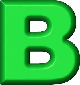 Presentation Alphabets: Green Refrigerator Magnet B