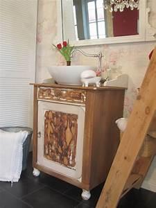 Badmöbel Vintage Style : nostalgischer waschtisch shabby chic wasserheimat ~ Michelbontemps.com Haus und Dekorationen
