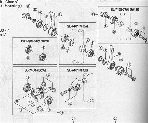 shimano dura ace exploded diagram sum of its parts