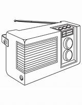 Radio Coloring Pages sketch template