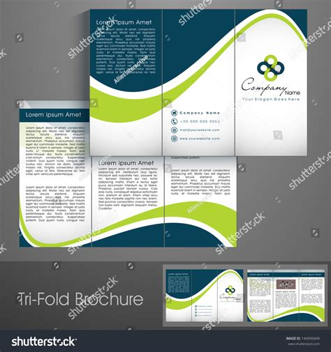 Professional Business Three Fold Flyer Template Stock