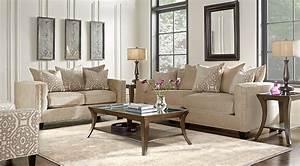 Beige, Black, U0026, White, Living, Room, Furniture, U0026, Decorating, Ideas