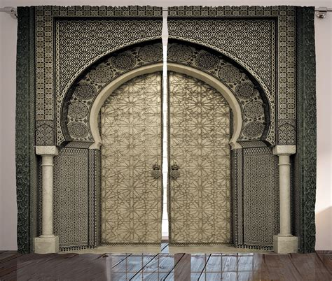 antique moroccan decor gate door image royal pattern style