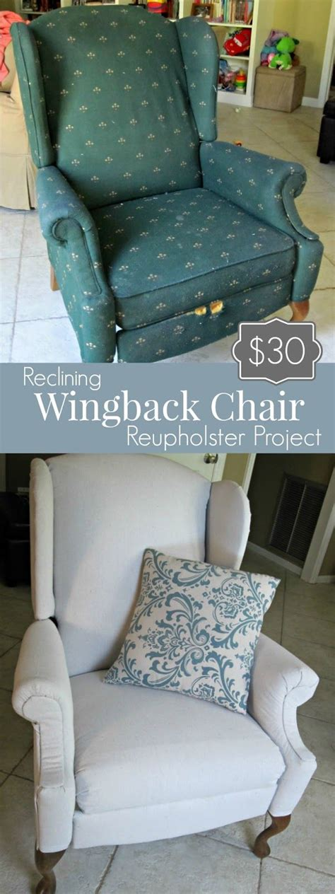 How To Reupholster A Reclining Sofa by 30 Reclining Wingback Reupholstery Project Furniture