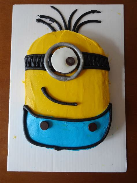 Vanilla minion cake happy birthday blake!. Minion Cakes - Decoration Ideas | Little Birthday Cakes