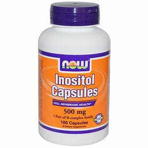 Inositol Capsules Now Foods Dietary Supplement Australia