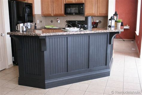 wainscoting kitchen island adding beadboard to the bar southern hospitality 3304