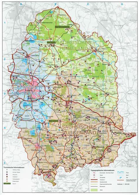 Karte Sächsisches Burgen- und Heideland
