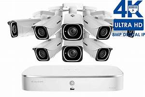 Ip Camera System With 8 Ultra Hd 4k Security Cameras