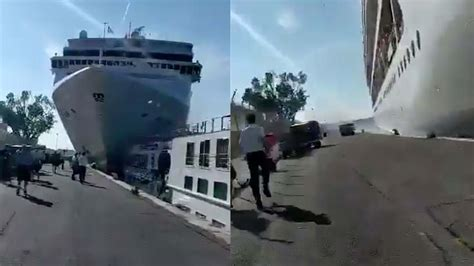 Cruise Ship Crash In Venice Leaves Four People Injured