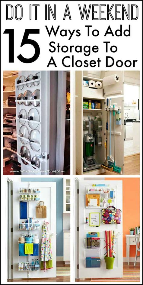 Closet Door Storage by 15 Ways To Use The Back Of A Closet Door For Storage And